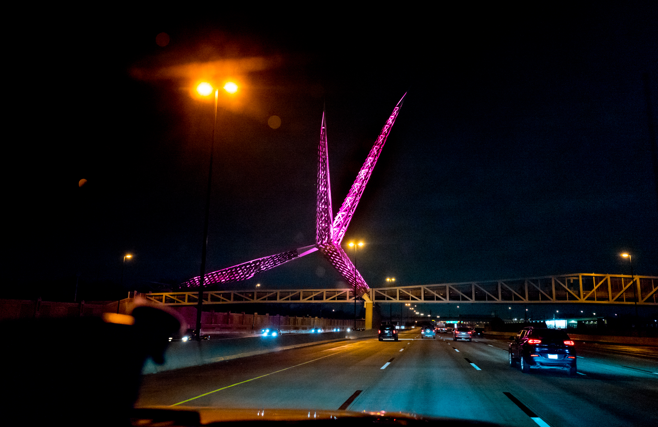 Skydance Bridge over I-40 in Oklahoma City