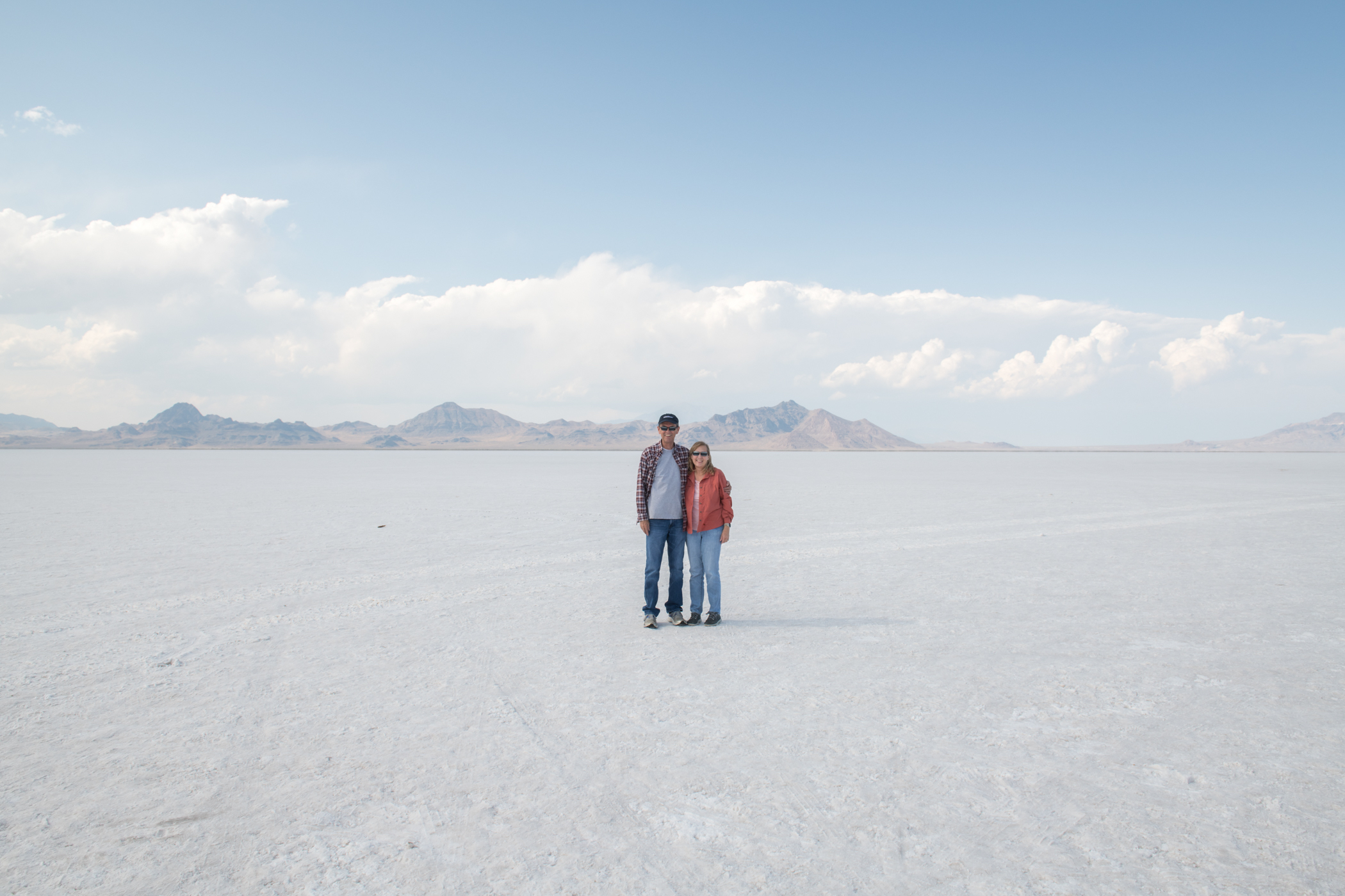 Terry and Janet on the Bonneville Salt Flats
