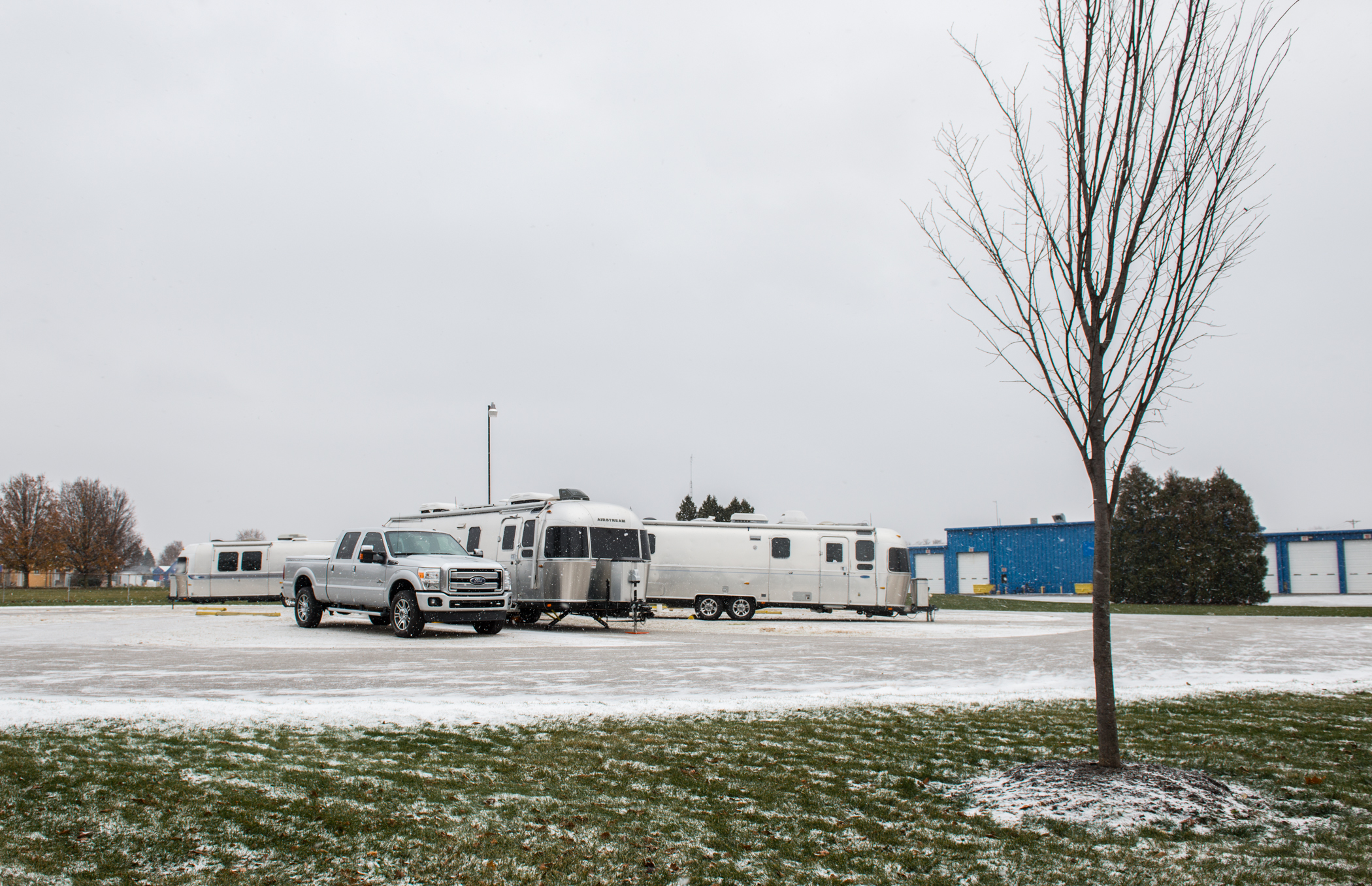 The only campers in a wintry Airstream Terraport