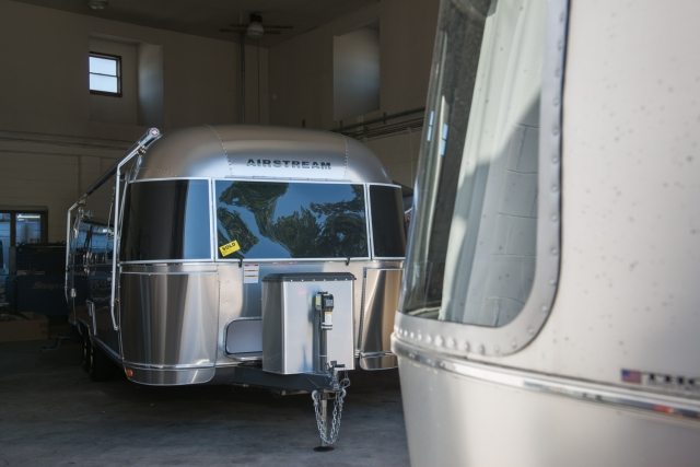 First view of our 2015 Airstream 27FB International Signature