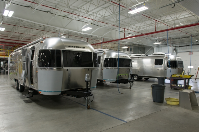 New Airstreams nearing completion at the Factory
