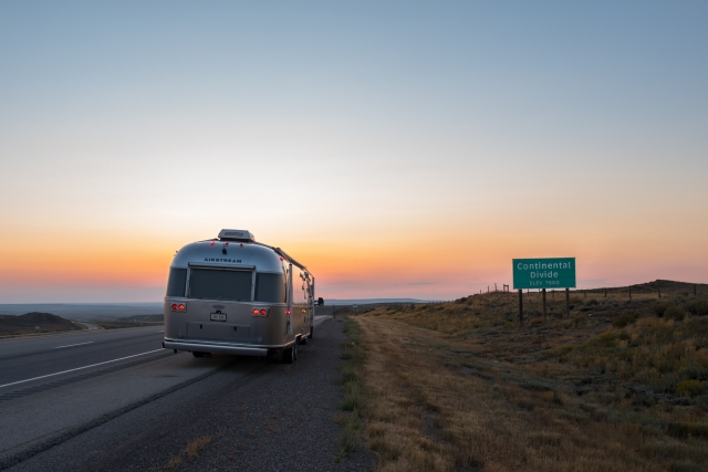 Continental Divide on I-80 in Wyoming