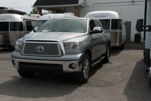 Toyota Tundra ready for first hitch session at Colonial Airstream in Lakewood New Jersey