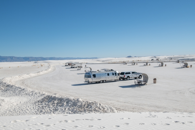 All alone for lunch at White Sands National Park