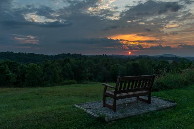 Virginia Highland Haven Airstream Park sunset