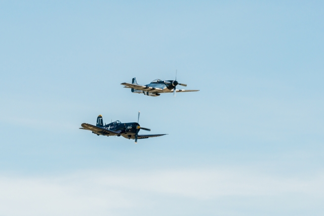 Scott Yoak, P-51D Mustang and Jim Tobul, F4U-4 Corsair - Class of '45