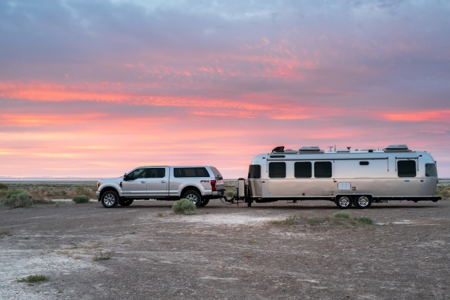 Boondocking on BLM overlooking the Bonneville Salt Flats