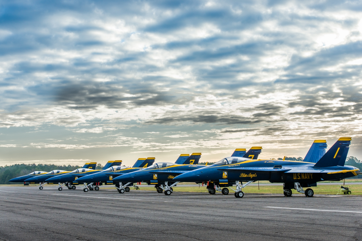 View of the U.S. Navy Blue Angels from our Airstream
