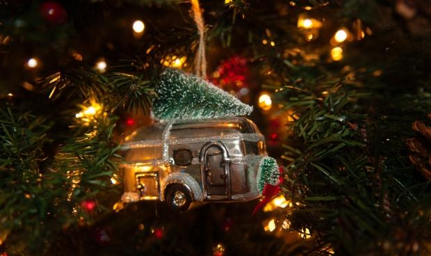 Airstream Christmas Tree Ornament