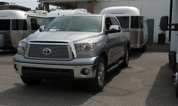 Toyota Tundra ready for first hitch session at Colonial Airstream in Lakewood, New Jersey
