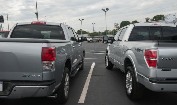 Toyota Tundra Crewmax Platinum vs Ford F-150 Platinum EcoBoost