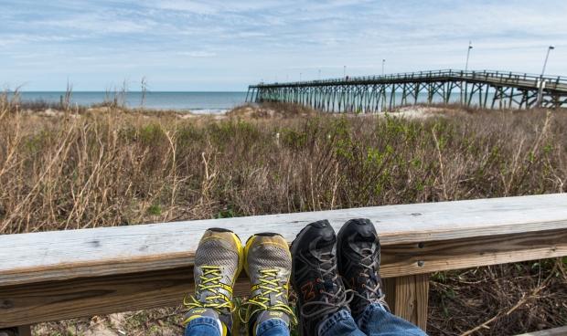 Foot shot at Kure Beach, NC