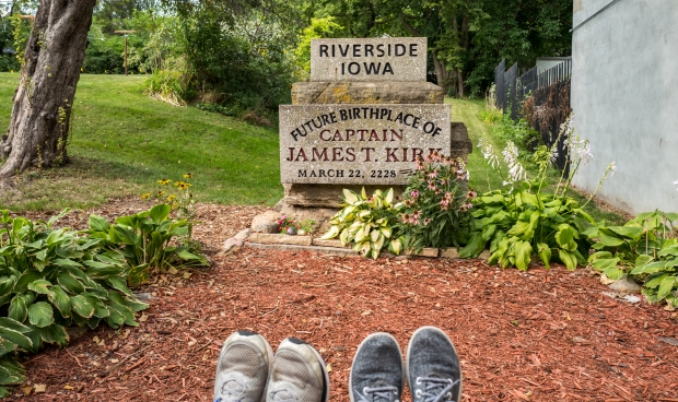 Foot shot at Captain Kirk's future birthplace