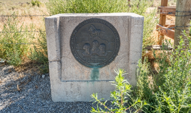 Trail marker for the Pony Express Trail