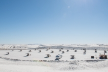 Social distancing at White Sands National Park