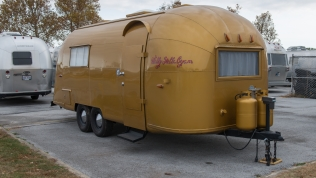 Wally and Stella Byam's famous gold Airstream