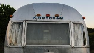 Vintage Airstream found near Wytheville, Virginia