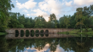 The bridge in Cumberland Mountain State Park