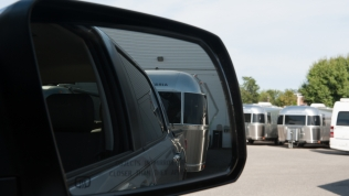 Toyota Tundra hitched to new Airstream at Colonial Airstream in Lakewood New Jersey