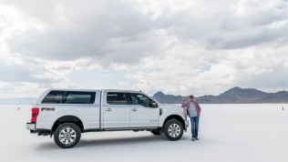 Driving on the Bonneville Speedway
