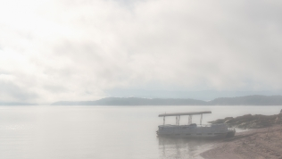Morning fog on Douglas Lake