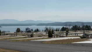 Room with a view at Anchor Down RV Resort on opening weekend