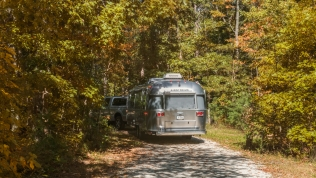 Heading into the wilderness at Jersey Shore Haven Airstream Park