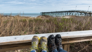 Foot shot at Kure Beach, NC