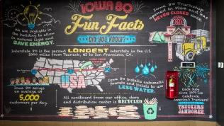 Fun facts display in Iowa 80