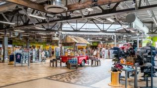 Massive shopping areas at Iowa 80